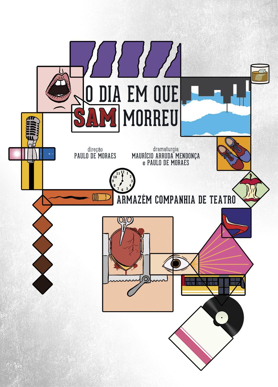 Vidro Embaçado - Cartaz do espetáculo O Dia em que Sam Morreu - 2014.