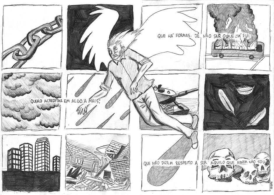 Vidro Embaçado - Página da história Angelus Novus -2014.