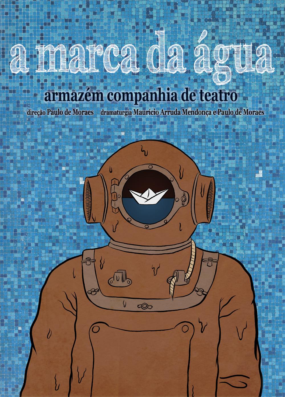 Vidro Embaçado - Cartaz do espetáculo A Marca da Água - 2012.