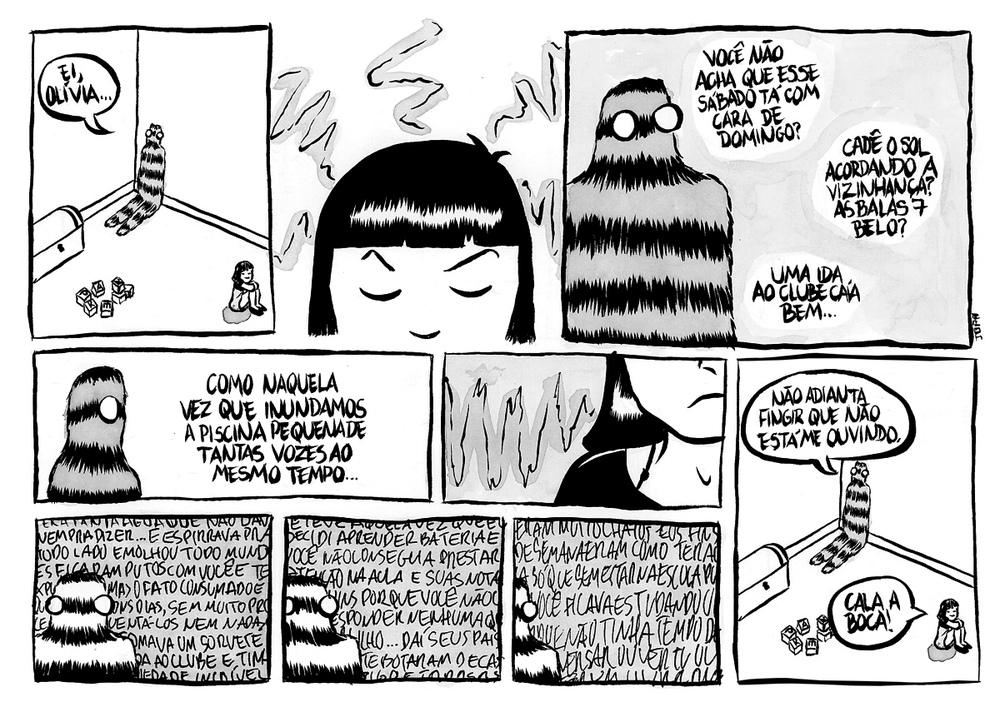 Vidro Embaçado - Página para o projeto Distopia em preto e branco - 2013.