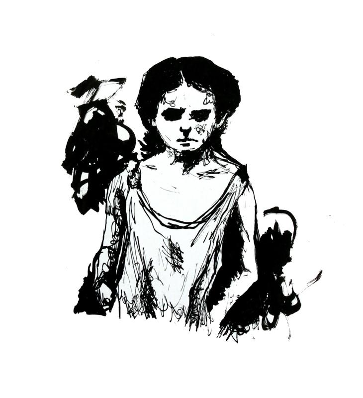 Geraldine Guterman - Tinta sobre papel 14,5x19cm 2010