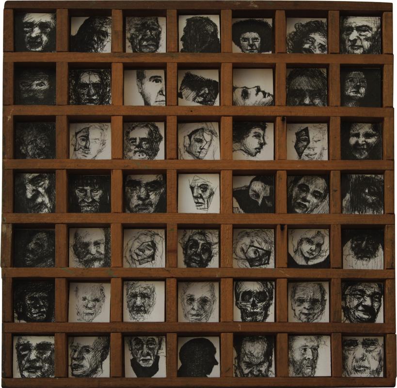 Geraldine Guterman - Tinta sobre papel 22x22cm 2013
