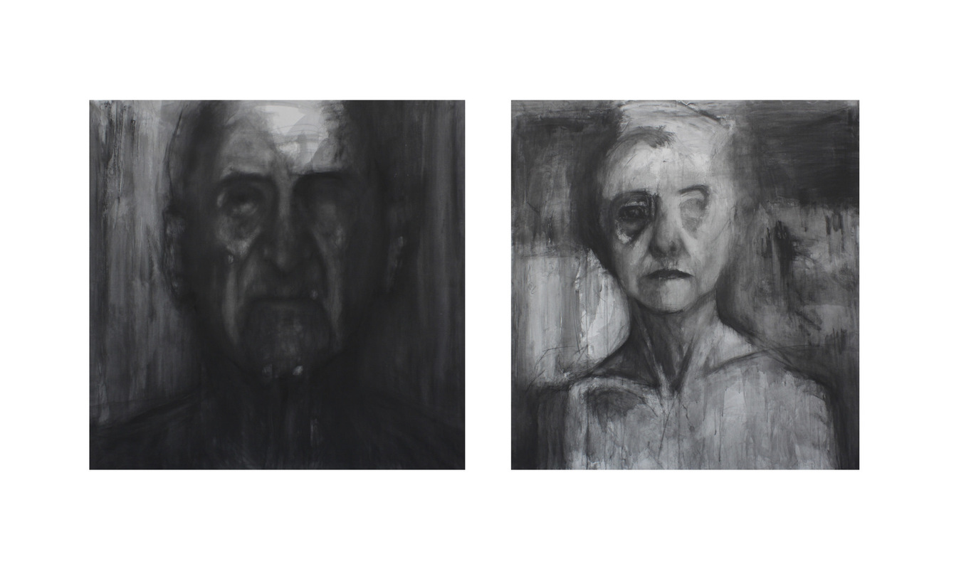 Geraldine Guterman - Carbonilla sobre tela 90x90cm 2014