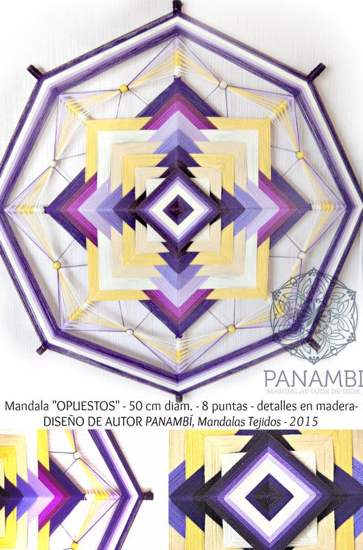PANAMBI, MANDALAS TEJIDOS - OPUESTOS