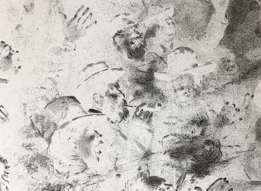 Pedro Wainer - S/T, de la serie de negativos de Desentierros. 18 x 24 cm. Exposición directa sobre gelatina de plata, copia única. (2017)