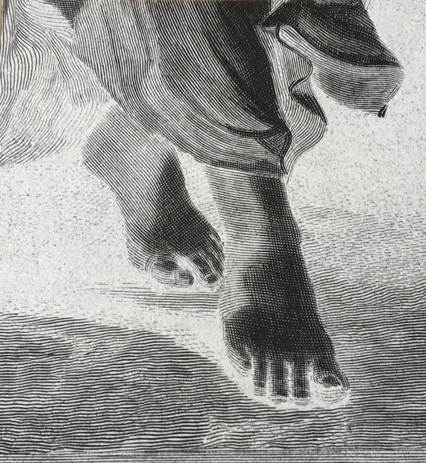 Pedro Wainer - S/T, de la serie de negativos de Desentierros. 50 x 46 cm. Exposición directa sobre gelatina de plata, copia única. (2017)