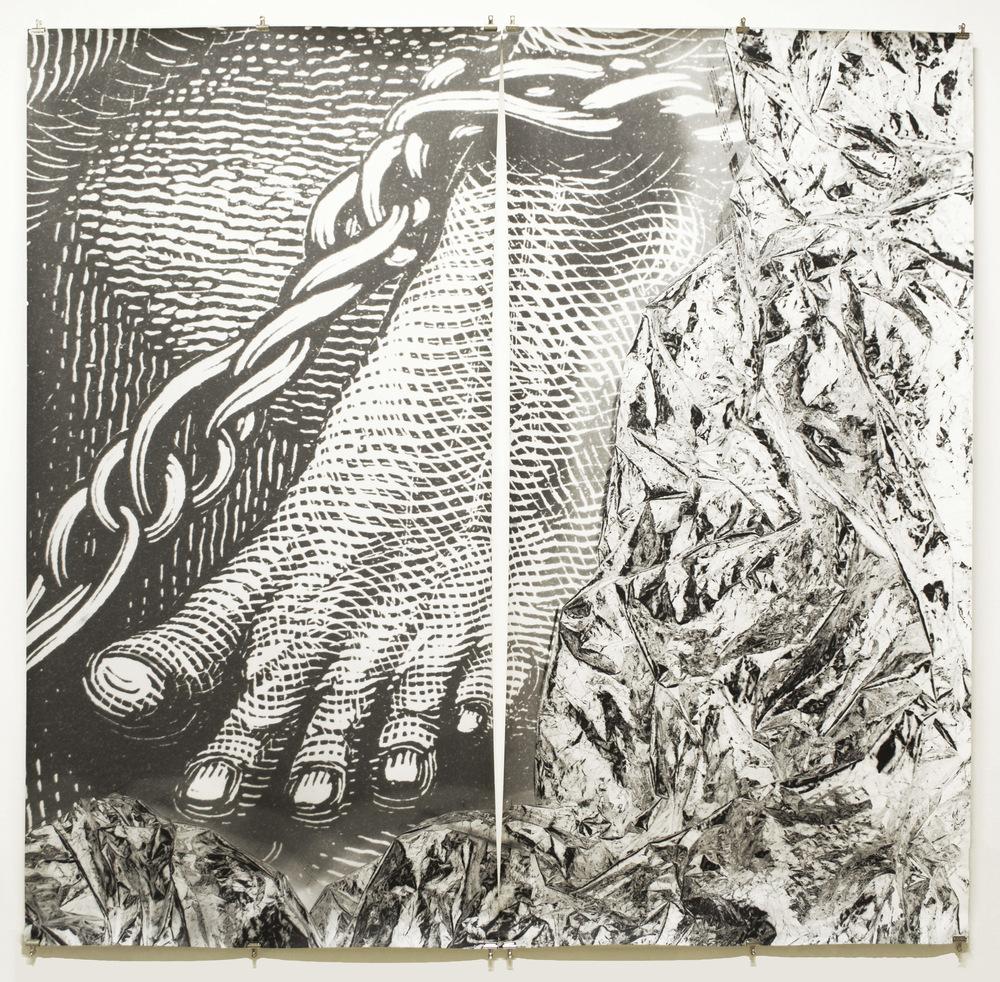 Pedro Wainer - Desentierros #3. Pie 207 x 215 cm. Exposición directa sobre gelatina de plata, copia única. (2017)