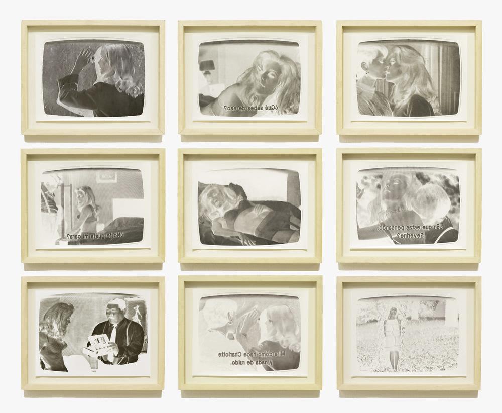 Pedro Wainer - Negativos de Belle de Jour (9) (U$D 2.200) 60 x 80 cm. Exposición directa sobre papel de bromuro. Originales, copias únicas. (2014)