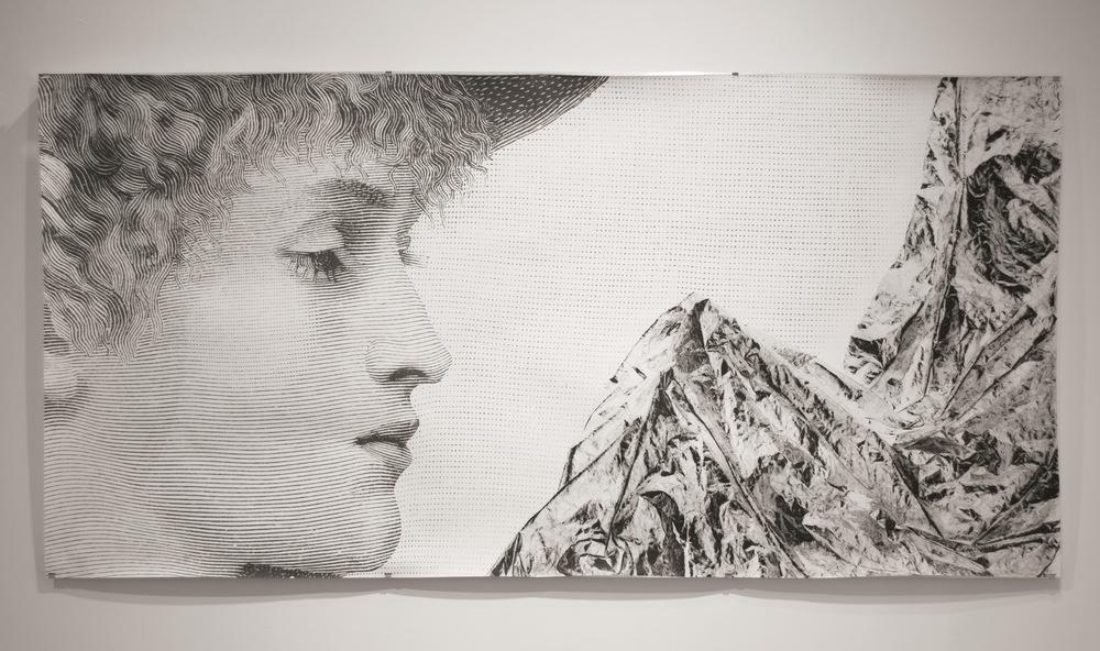 Pedro Wainer - Desentierros #4. Perfil 107 x 200 cm. Exposición directa sobre gelatina de plata, copia única. (2017)