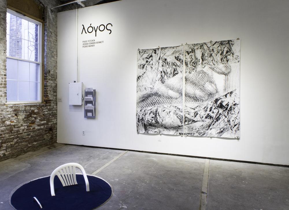 Pedro Wainer - Vista en sala muestra ¨Lógos¨, Galería Little Berlin, Filadelfia, EE.UU.