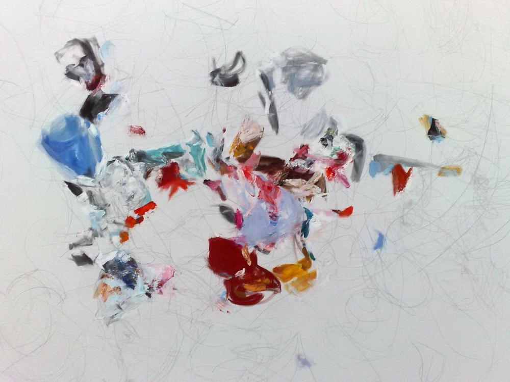 annette-skarbek - Sem título,óleo sobre tela, 1,92 x 1,42m, 2013 / Untitled, oil on canvas, 2013